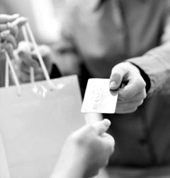 person buying products